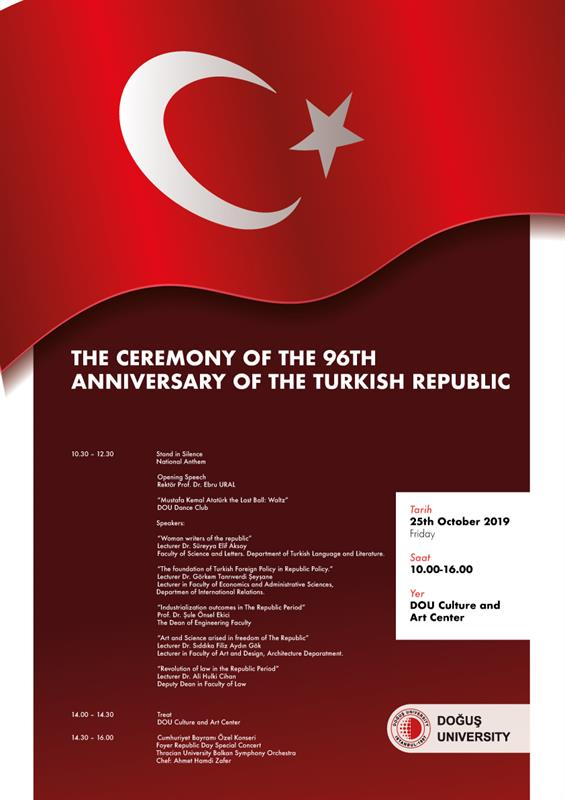 The Ceremony Of The 96TH Annıversary Of The Turkısh Repeblıc