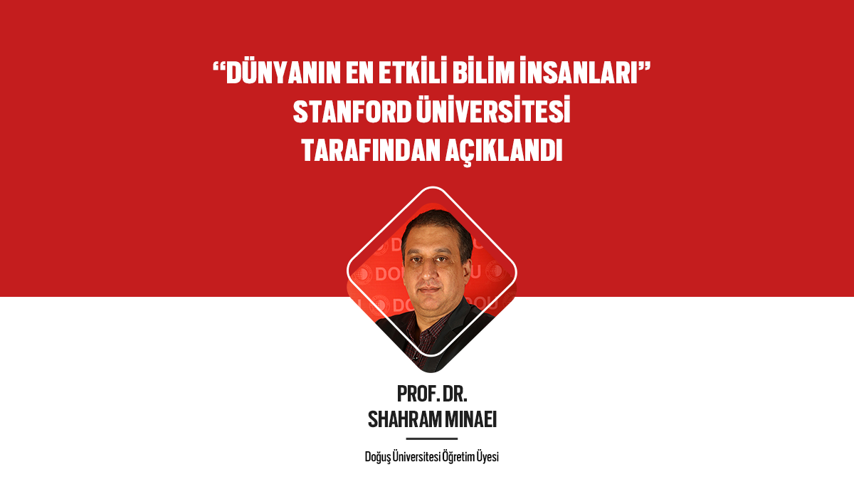 Prof. Dr. Shahram Minaei ranked in Stanford University study of the world's top 2% of scientists.